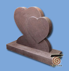 Cemetery Monument Granite Memorial Heart Shape Headstone
