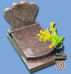Cemetery Monument Granite Memorial Heart Shape Headstone